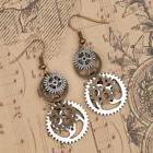 Steampunk Earrings Antique Bronze Gears Jewelry Fashion Jewe