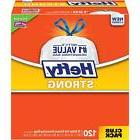 Hefty Strong Kitchen Trash Bags 13 Gallon Garbage Bags 120 C