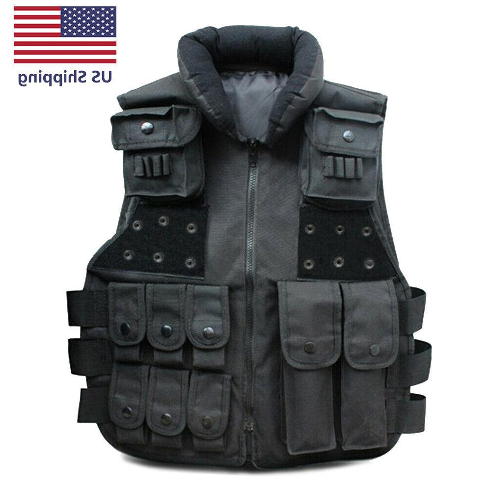 tactical vest military plate carrier molle police