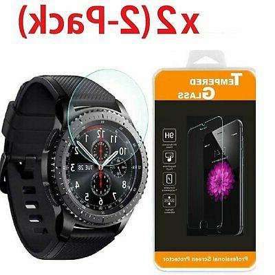 2-PACK Tempered Glass Protector for Smart Watch Samsung Gear