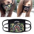 Unisex A Bathing Ape Bape Shark Black Face Mask Camouflage M