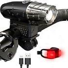 Waterproof USB-Recharge LED Bicycle Bike Front Light Headlig
