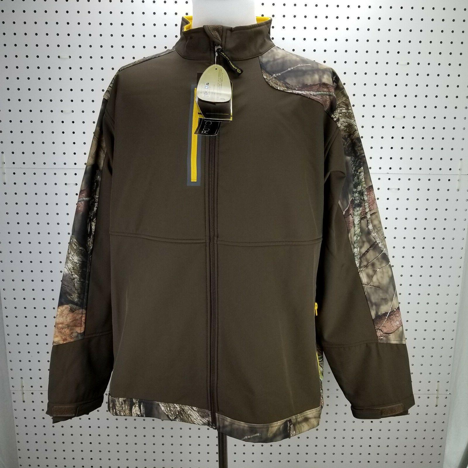 Yukon Gear Windproof Softshell Fleece Jacket, Mossy Oak Brea