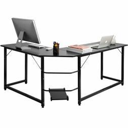 L-Shaped Desk Corner Computer Gaming Laptop Table Workstatio