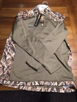 Yukon Gear Long Sleeve Men's 1/4 Zip Base Layer Camo/Olive w