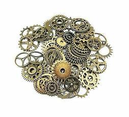 Lot 100g Antique Steampunk Gears Charms Pendant Clock Watch