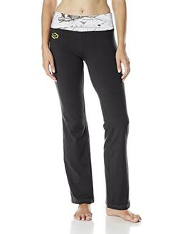 Yukon Gear Women's Lounge Pant, Black with Mossy Oak Snowdri