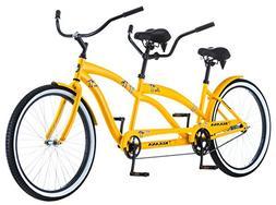 "Kulana Lua Single Speed Tandem 26"" wheel, Yellow, 17""/Medi"