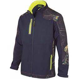 Yukon Gear Men's Windproof Soft Shell Jacket, Midnight
