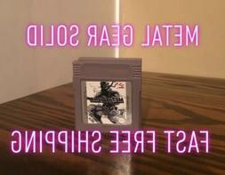 Metal Gear Solid Nintendo Game Boy Game Cartridge GBA GBC SP