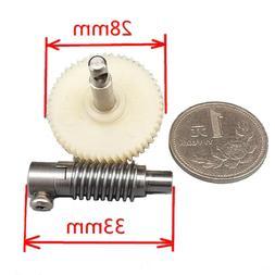 Metal Worm Wheel Reduction Gear set Plastic Gear Reducer Kit
