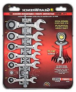 Gearwrench 7 Piece Metric Stubby Combination Ratcheting Wren