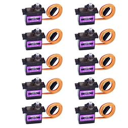 Longruner 10Pcs MG90S Metal Geared Micro Servo Motor 9G For
