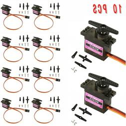 10Pcs MG90S Micro Metal Gear 9g Servo For RC Model Airplane