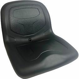 Milsco Midback Lawn/Garden Mower Seat — Black, Model# TS35