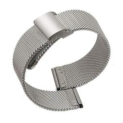 Milanese Stainless Steel Watchband 22mm Solid Weave Band for