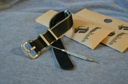 Gear Guys Military Style Watch Strap Seat Belt Material Blac