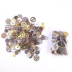 Mixed 90g Steampunk Gear Charms mix tone Connectors Jewelry
