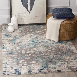 Safavieh Monaco Collection MNC225E Modern Abstract Grey and