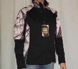 NEW YUKON GEAR Black Pink Mossy Oak Camo Windproof Soft Shel