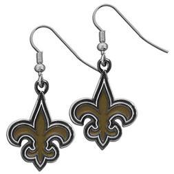 NFL New Orleans Saints Chrome Dangle Earrings