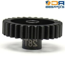 Hot Racing NSG28M1 28t Steel Mod 1 Pinion Gear 5mm