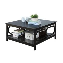 Convenience Concepts Omega Square 36-Inch Coffee Table, Blac