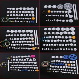 Plastic Gears Kits Pulley Shaft Worm Bevel Gear Sleeve DIY T
