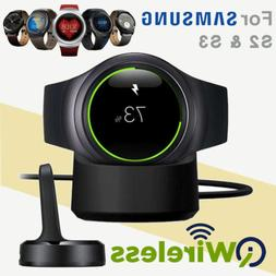 Qi Wireless Charging Dock Cradle Charger For Samsung Gear S2
