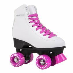 Skate Gear - Quad Roller Skates | Unisex - White / Pink