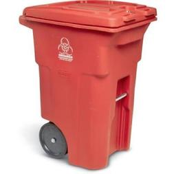 Toter? Red Two-Wheel Medical Waste Cart 64 Gallon