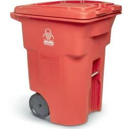 Toter? Red Two-Wheel Medical Waste Cart 96 Gallon