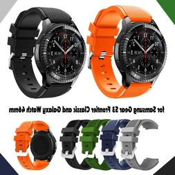 Replacement Silicone Band Strap For Samsung Gear S3 Frontier