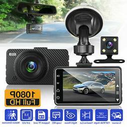 "4""1080P HD 170°Touch Screen Car DVR Dash Cam G-sensor Recor"