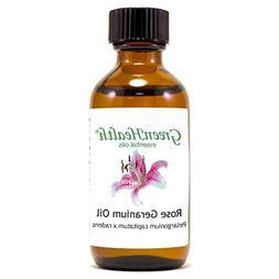 Rose Geranium - 2 fl oz  Glass Bottle w/ Cap - 100% Pure Ess