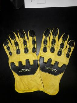 Clutch Gear Safety Impact Protection Mechanic Gloves Leather