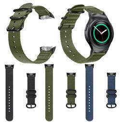 For Samsung Gear S2 SM-R720 SM-R730 20mm Soft Woven Nylon Ba