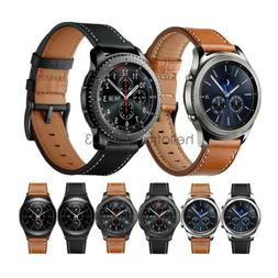 For Samsung Gear S3 Frontier S2 Classic Leather Watch Band W