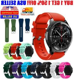 Silicone Bracelet Watch Replacement For Samsung Gear S3 Fron