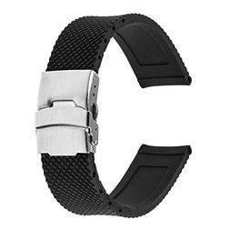 TRUMiRR 22mm Silicone Rubber Watch Band Strap for Samsung Ge