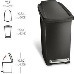 simplehuman 10 Liter / 2.6 Gallon Compact Slim Bathroom or O