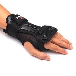 Andux Ski Gloves Extended Wrist Palms Protection Roller Skat