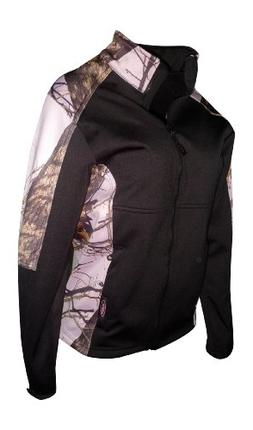 Mossy Oak Pink Snow Windproof Fleece Softshell Jacket Black