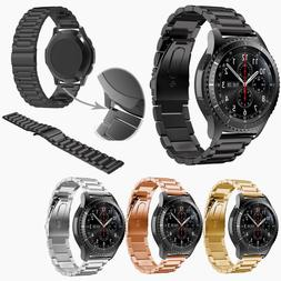 Solid Stainless Steel Strap Band 22mm for Samsung Gear S3 Fr
