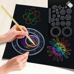 Spirograph Deluxe Tin Set Draw Spiral Designs Interlocking T