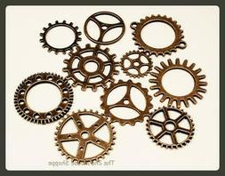 Steampunk Gear Charms 80 Pieces Jewelry Making Supplies Earr