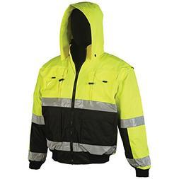 Brite Safety Style 5025 Hi Vis Hoodie Bomber Jacket | Revers