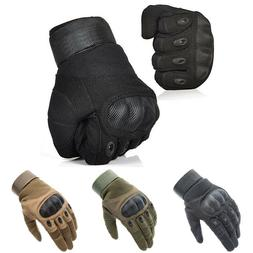 Tactical Hard Knuckle Gloves Army Military Combat Hunting Sh