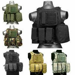Tactical Military SWAT Airsoft Molle Combat Assault Plate Ca
