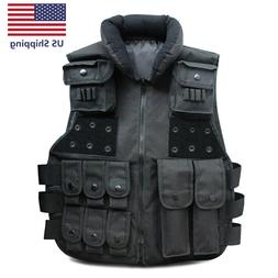 Tactical Vest Military Plate Carrier Molle Police Airsoft Co